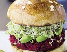 Veg-burger di barbabietole