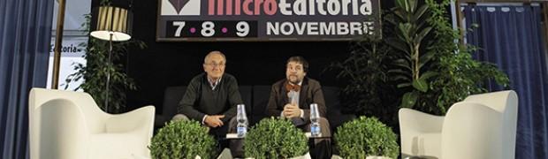 Luca Mercalli intervistato dall'ambientalista Marino Ruzzenenti alla Microeditoria