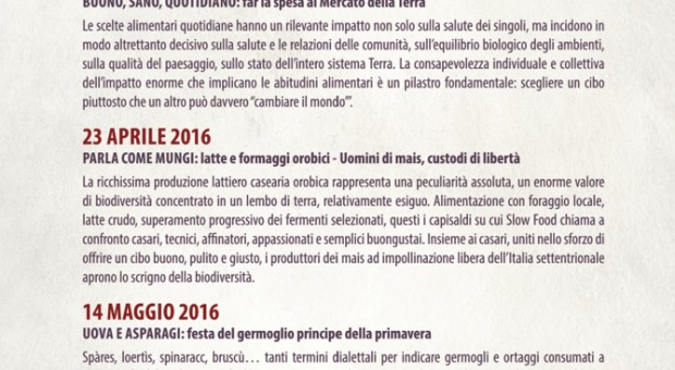 Mercato della Terra di Bergamo. Cibo e biodiversità diventano cultura
