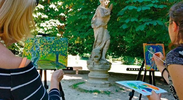 Imparare a dipingere sul lungo lago