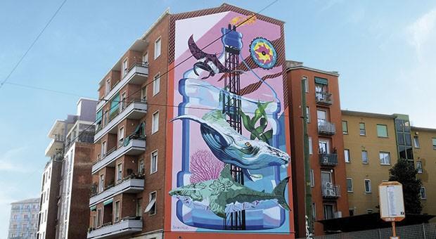 """Anthropoceano"", il primo murales mangia-smog di Milano"