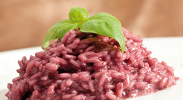 Risotto all'uva fragola